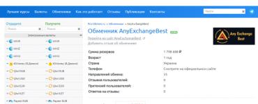 Обменный сервис AnyExchange.best добавлен на мониторинг обменников Pro-Obmen