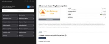 Обменный сервис AnyExchange.best, добавлен на мониторинг обменников E-mon
